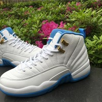 "Air Jordan 12 GS ""University Blue"" Basketball Shoes"