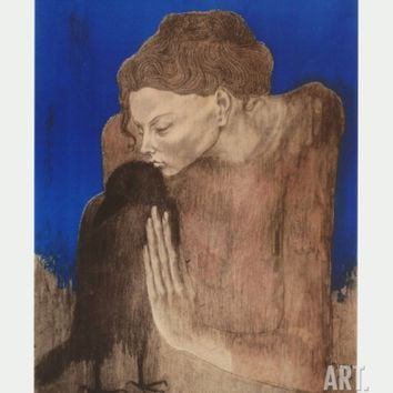 The Woman with the Raven Collectable Print by Pablo Picasso at Art.com