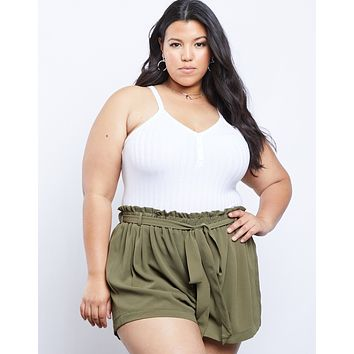 Plus Size Charlotte Tie Shorts