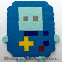 BMO Perler (Adventure Time) from Little House of Crafting