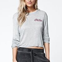 Young & Reckless Big R Script Long Sleeve Cropped T-Shirt - Womens Tee
