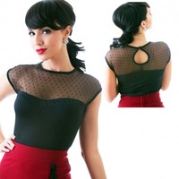 Steady Clothing Miss Fancy Top | Pin Up Retro Top