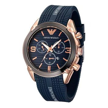 Emporio Armani exquisite fashion tires alphabet watch F-PS-XSDZBSH Blue
