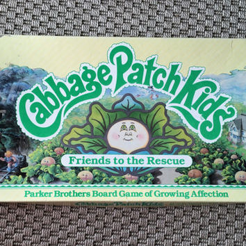 """Rare Vintage 1984 Cabbage Patch Kids """"Friends to the Rescue""""Board Game / Parker Brothers Board Game of Growing Affection / Retro Board Game"""