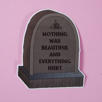 Nothing Was Beautiful and Everything Hurt Sticker