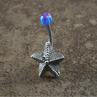 Starfish Navel Belly Button Ring Body Jewelry
