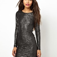 Motel Metallic Ripple Dress