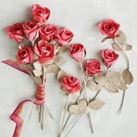 Paper Flowers - Red Rose