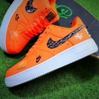 "Nike Air Force 1 Low "" Just Do It "" Orange AF1 Sport Shoes - Best Online Sale"