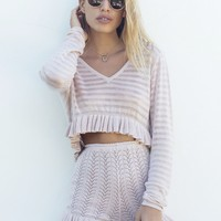 LIMITED EDITION - BABYMILK DUSTY PINK CARDI CROP - Female HOT!MESS Fashion UK