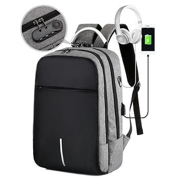 Anti-Theft Travel Backpack with Double Zipper