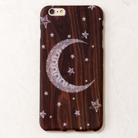 Brown Star Moon Sky Magical Moon Wooden iPhone 6 Plus case