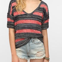 Urban Outfitters - Ecote Tuck Stripe V-Neck Sweater