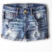AEO Women's Denim X Hi-rise Shortie (Medium True Blue)