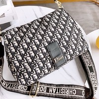 DIOR new casual women canvas printed logo Rome shoulder strap cross bag