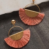Cha Cha Fringe Earrings - Peach