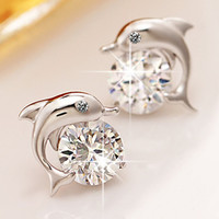 Lovely Dolphin Bay zircon earrings