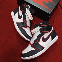 AJ 1 Air Jordan 1 high-top men's and women's versatile sneakers shoes