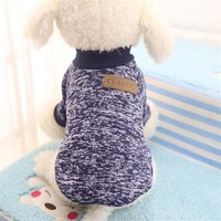 Bruce&Williams 2016 New Classic Pet Dog Clothes Winter Thick Jacket Warm Coat Pure Design Cute Sweater For Dogs Cat Puppy DC453