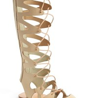 Women's Topshop 'Figtree' Leather Gladiator Sandal