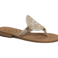 Jack Rogers Georgica Sandal- Bone and White- FINAL SALE