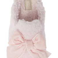 UGG® Addison Velvet Bow Genuine Shearling Slipper (Women) | Nordstrom