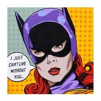 Bat Love 1 by Mike Bell Fine Art Giclee Canvas Print