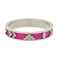 House of Harlow 1960 Jewelry Aztec Bangle with Fuchsia Leather
