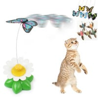 Shop Crazy Cats New Funny Kitten Electric Rotating Butterfly Toy