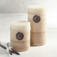 Cuban Vanilla Layered Pillar Candles