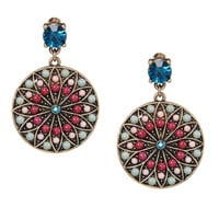 Multicolor Jewel Drop Earrings