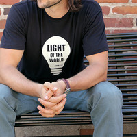 Christian Tshirt Christian shirts, Light of the World, Glow in the dark Tee