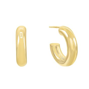 X-Small Thick Hollow Hoop Earring