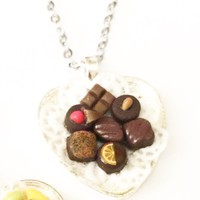 chocolate truffles necklace