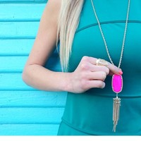 Rayne Necklace in Neon Pink - Kendra Scott Jewelry