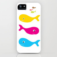 WHALE iPhone Case by Jeff Ryu