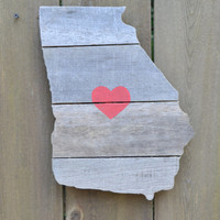 Georgia Cutout Reclaimed Wood MADE TO ORDER