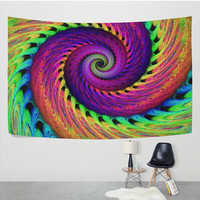 3D Rainbow Skeletons Spiral Psychedelic Tapestry Wall Hanging Trippy Mandala Hippie Boho Wall Decor Art for Living Room Bedroom Dorm