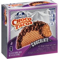 Walmart: Klondike Choco Taco Chocolate Ice Cream Sugar Taco Cones, 3.5 fl oz, 4 count