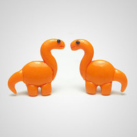 Brontosaurus Dinosaur Earrings Polymer Clay by PixieHearts