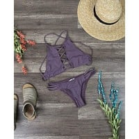 Final Sale - Dippin' Daisy's Venice High Neck Crop Bikini Separates - More Colors