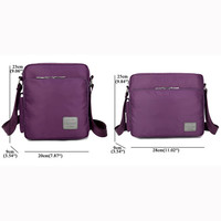 Women Men Nylon Waterproof Multifunctional Multi-pockets Shoulder Bags Crossbody Bags