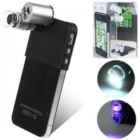 Mini 60X High Magnification Digital Microscope for iPhone4/4S with Flashlight