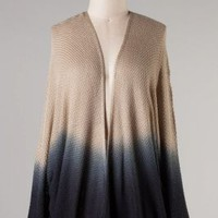 OMBRE CARDIGAN SWEATER