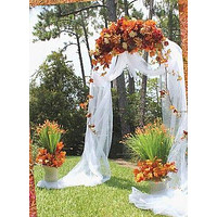 Wedding Arch White Steel For Special Events Occasions, 90-Inch x 55-Inch