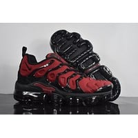 "2018 Nike Air Max Plus TN VM ""Red&Black"" Vapormax Vapor Max Men Fashion Running Sneakers Sport Shoes"