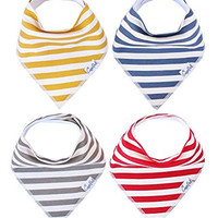 """Baby Bandana Drool Bibs for Drooling and Teething 4 Pack Gift Set For Boys and Girls """"Alpine Set"""" by Copper Pearl"""