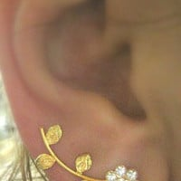 Earring Pair ear pin sweep for piereced ear Gold Filled ER11