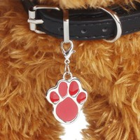 New Popular 6 colors Pet Jewelry Cat dog collar pendant tags Footprints Necklace Collar Puppy identity collar Pet Accessories