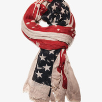 Distressed American Flag Scarf